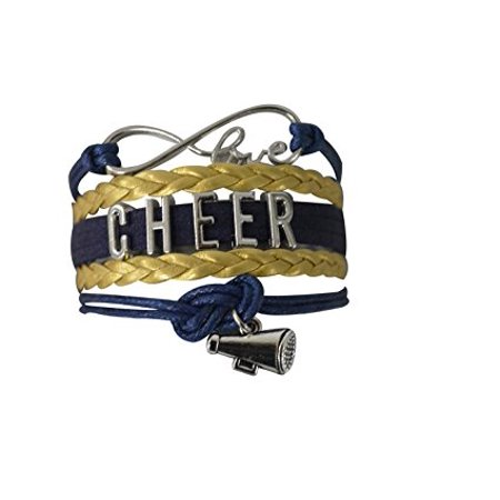 Girls Cheerleading Bracelet, Cheer Gifts- Cheer Jewelry- Cheer Bracelet- Adjustable Cheer Charm Bracelet- Gift For Cheerleaders, Cheer Teams & Cheerleading Coaches for $<!---->