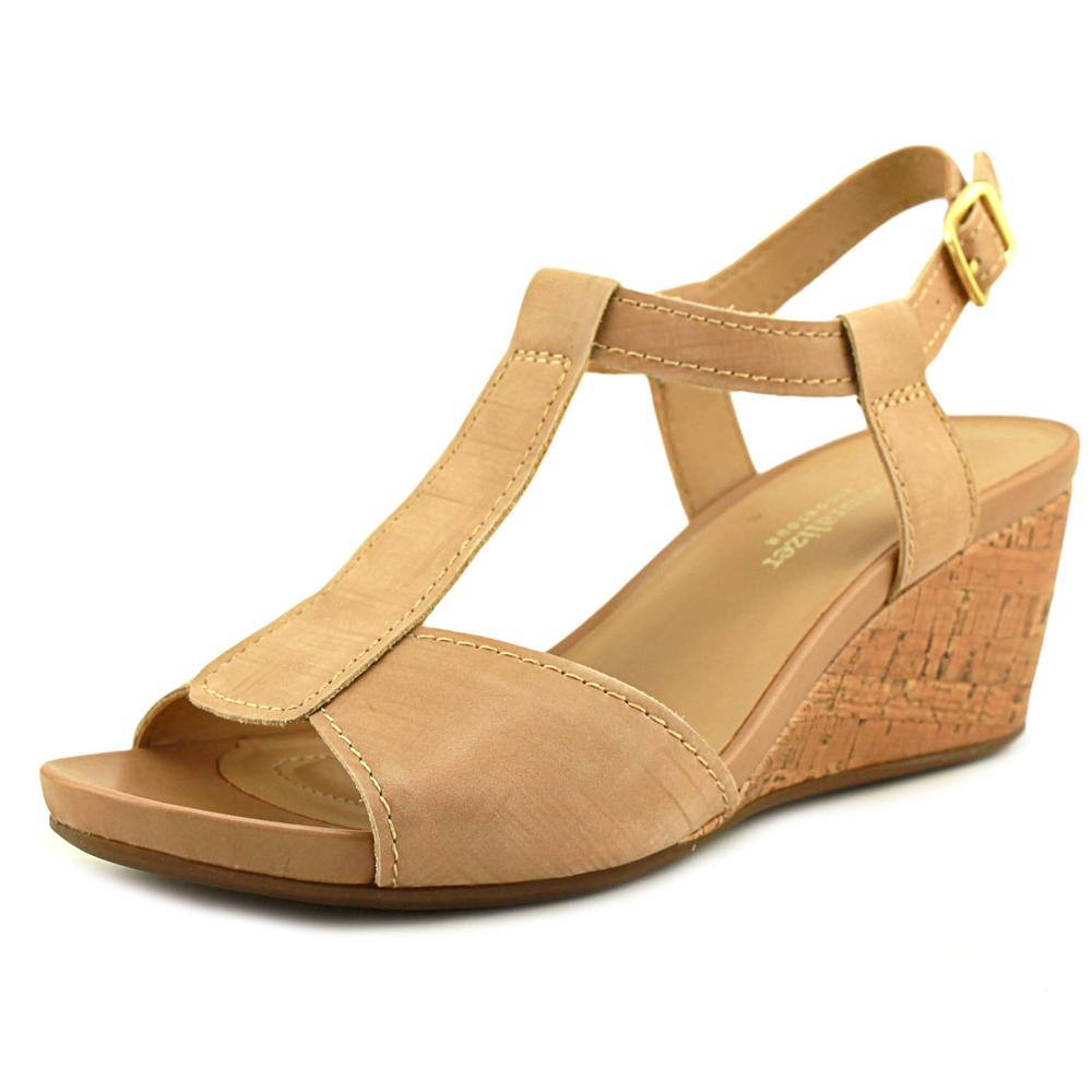 Naturalizer Camilla Open Toe Leather Wedge Sandal by Naturalizer