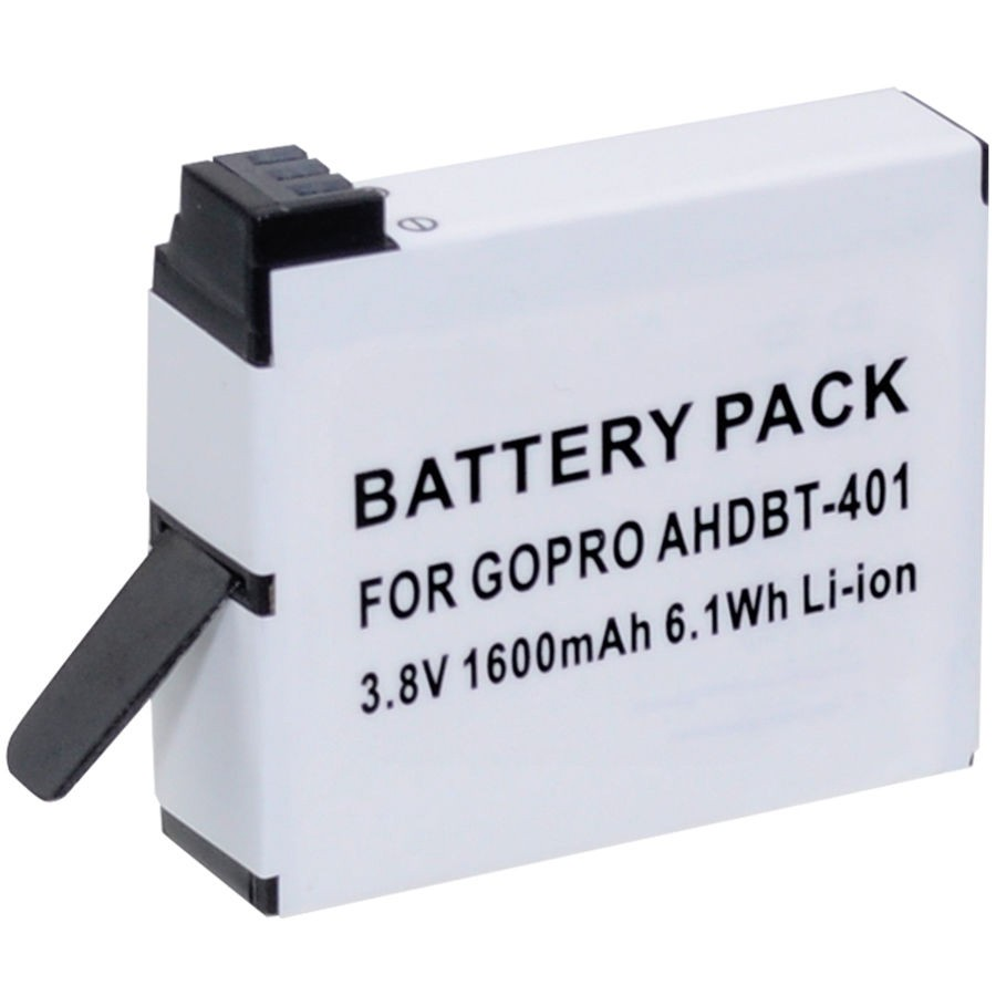 Xit XTGPH4 1600mAh Lithium Ion Replacement Battery for GoPro Hero4, White