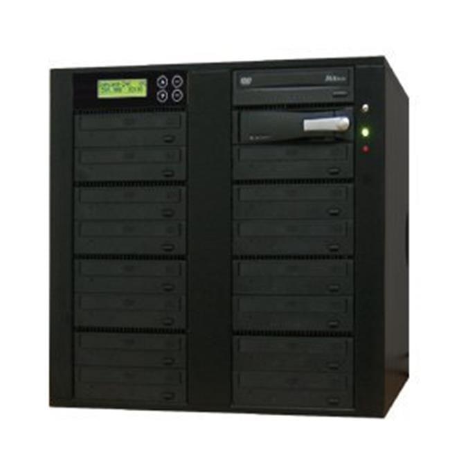 Produplicator A15DVDS22X320G 1-15 CD DVD Duplicator - Standalone Disc Duplication Copier - Multiple Target Burner Copy Tower