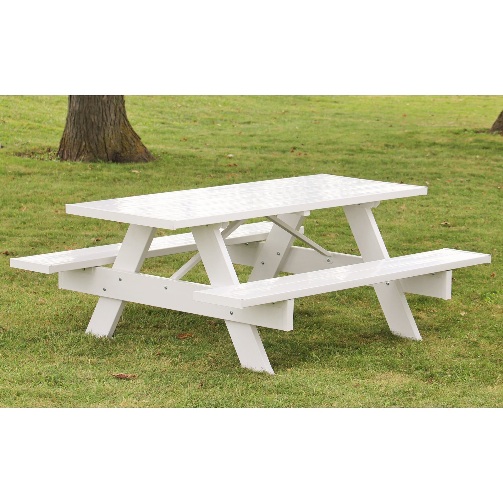 Dura-Trel Traditional White Picnic Table