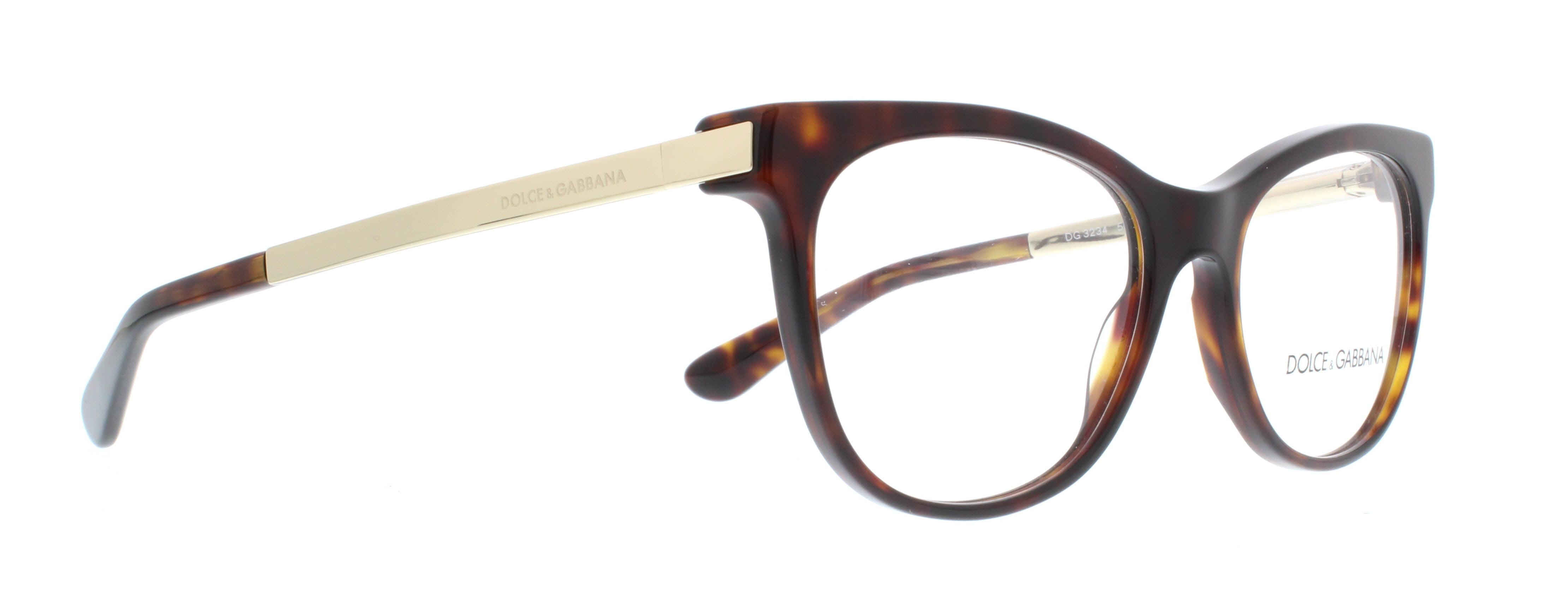 6ddfea1476a17 DOLCE   GABBANA Eyeglasses DG 3234 502 Havana 52MM - Walmart.com
