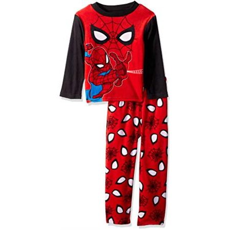 Sports Fleece Pajamas (Spider-Man Boys' 2-Piece Pajamas )