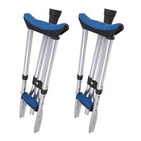 Carex Folding Crutches, Aluminum Underarm Crutches for Youth, Adult, and Tall Users