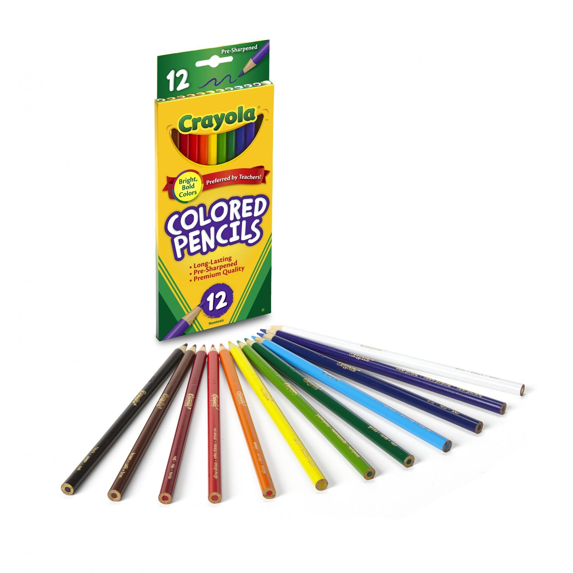 Crayola Classic Colored Pencils, 12 Count (Pack of 3)
