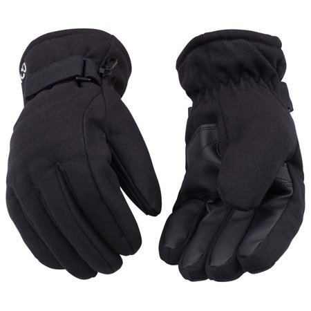 Kinco 1171-L Black Duck Fabric Water Repellent Ski Gloves (Size: Large) Kinco Insulated Gloves