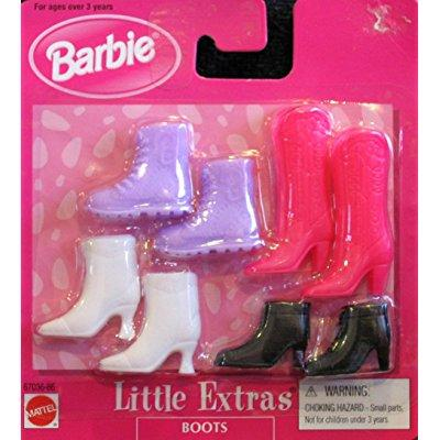 Barbie Little Extras Boots - 4 Assorted Pairs (1998 Arcotoys, Mattel)