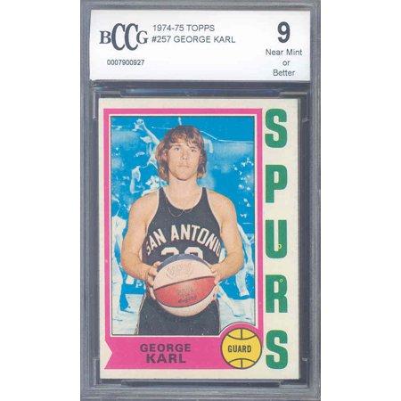 1974 75 Topps  257 George Karl Spurs Rookie Bgs Bccg 9