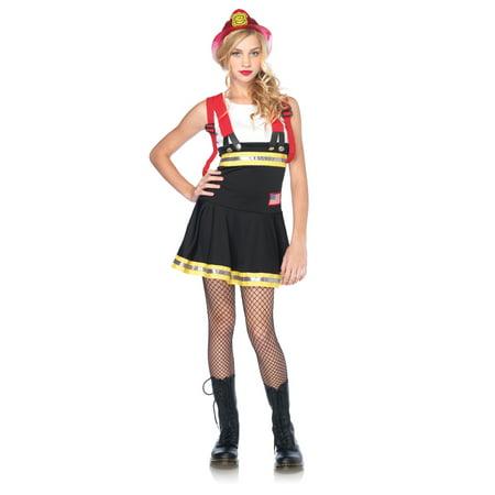 Jr Firefighter Costume (Teen Sweetheart Firefighter Halloween)