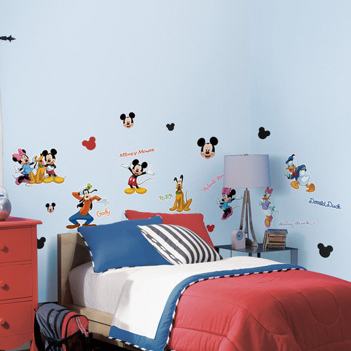 Mickey and Friends Peel and Stick Wall Decals