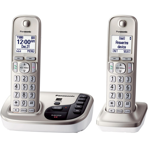 Panasonic KX-TGD222N Expandable Digital Cordless Answering System with 2 Handsets