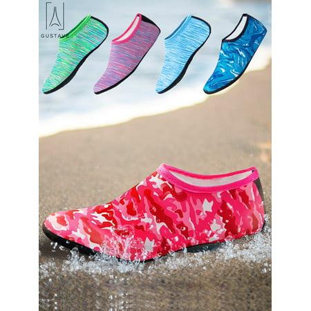 "GustaveDesign Men Women Water Socks Barefoot Quick Dry Aqua Beach Socks For Water Sport Swim Surf Yoga Exercise Beach ""3XL, Camouflage Red"""