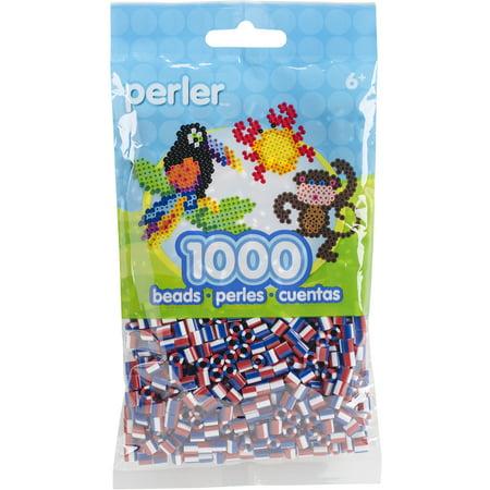 Perler Striped Beads 1,000/Pkg-Patriotic
