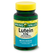 Spring Valley Lutein with Zeaxanthin Dietary Supplement, 6 mg, 30 count