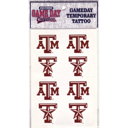 Texas A&M Aggies 8 Piece Temporary Face Tattoo Decals