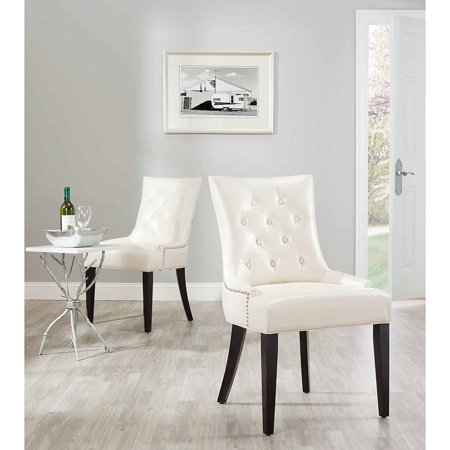 Safavieh Abby Bicast Leather Side Chair, Set of -