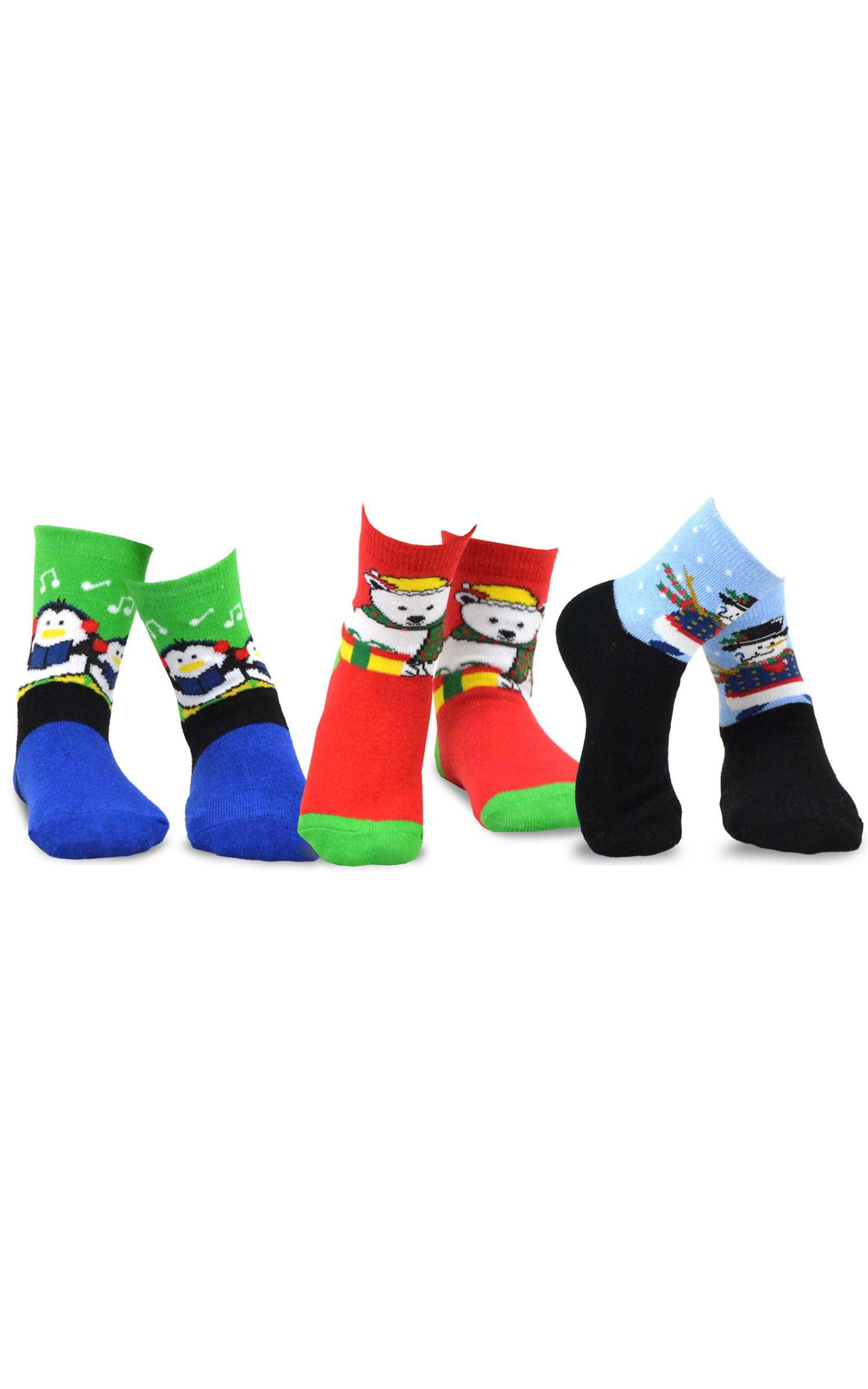 aa2648a442f TeeHee Kids - TeeHee Christmas Kids Cotton Fun Crew Socks 3-Pair Pack -  Walmart.com