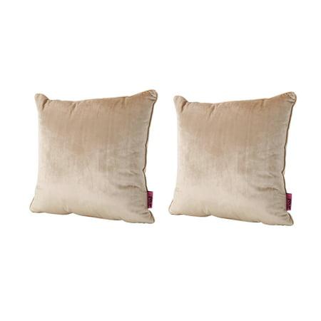 - Velvin New Velvet Pillows, Set of 2, Bisque