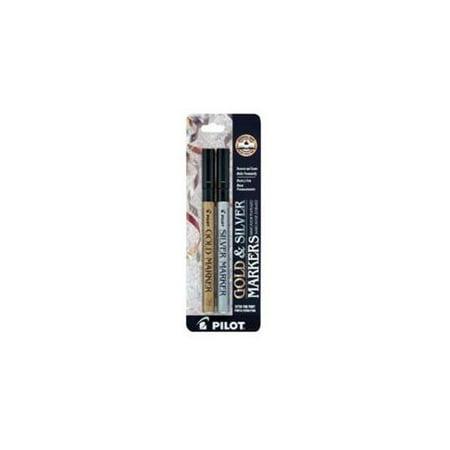 Pilot Metallic Paint Marker Extra Fine Gold/Silver 2-Pack