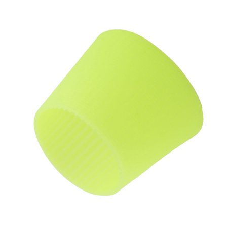Heat Treated Water Glass - Home Silicone Heat Insulation Nonslip Glass Water Cup Bottle Sleeve Green Yellow