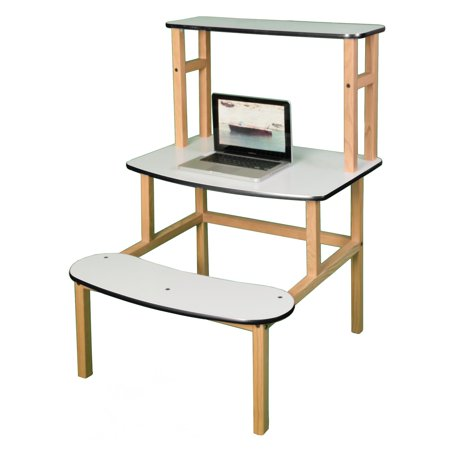 wild zoo student desk with optional hutch white