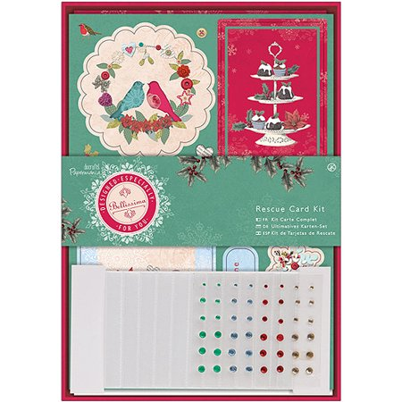 Christmas Card Making Kits (Papermania Bellissima Christmas Rescue Card)
