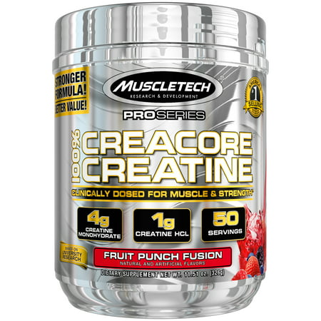 MuscleTech Cell Tech, Creatine Powder, Fruit Punch, 50
