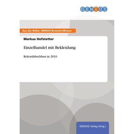Einzelhandel mit Bekleidung - eBook (Radsport Bekleidung Nz)