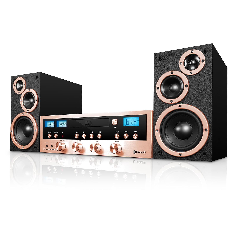 Innovative Technology 50 Watt Classic CD Stereo with Bluetooth by Innovative Technology