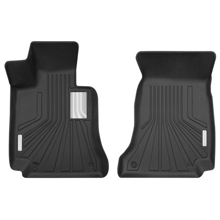 Husky Liner 70021 Floor Liner MOGO (TM) Molded Fit; Black; TPE - Thermoplastic Elastomer With Stainless Steel Accents; 2 Piece - image 1 de 1