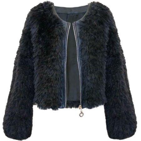 Faux Fur Coat Girl (Big Girls Tween 7-16 Faux Leather Trim Faux Fur Bolero Jacket, 16)