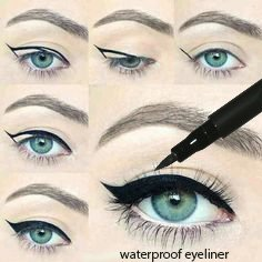 Waterproof Liquid Eyeliner Eye Liner Gel Black Will Stay All Day No Smudges by KC