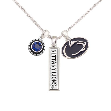 Penn State Nittany Lions Women's Triple Charm Necklace - Silver - No (Penn State Charm)