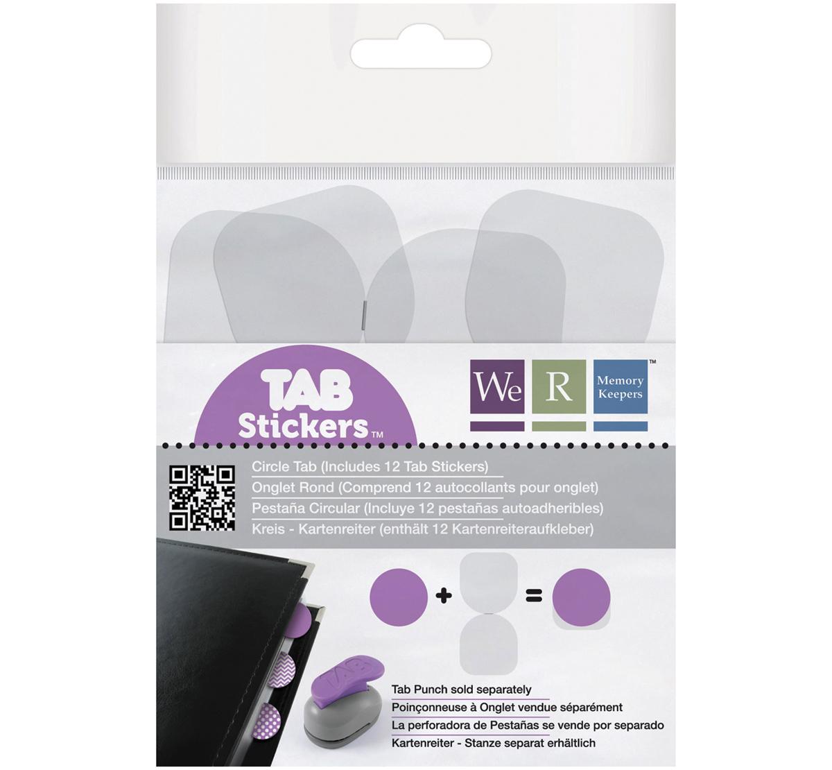 tab stickers 12 pkg circle 1 5