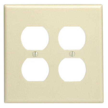 Leviton 86116 Ivory Oversize Two Gang Duplex Receptacle Wall Plate Gang Receptacle Wall Plate