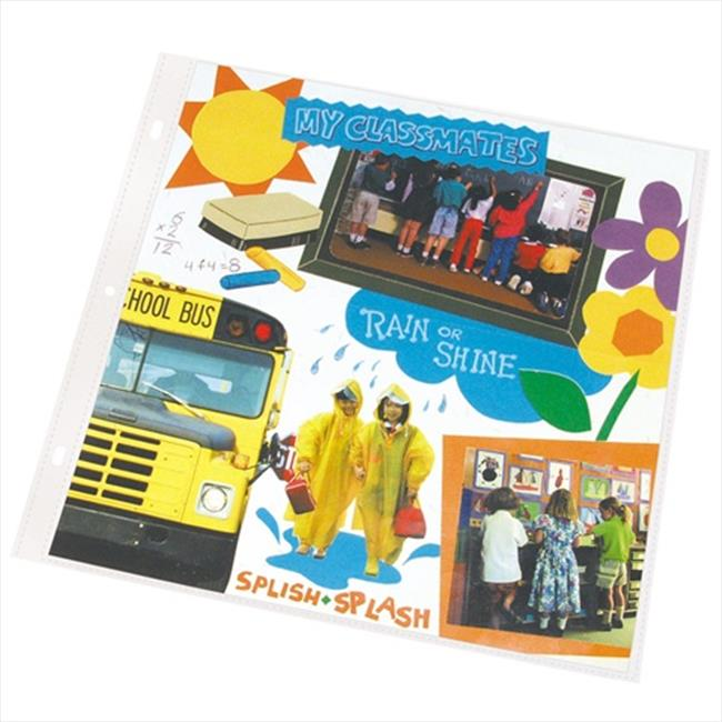 C-Line Products 62021BNDL2BX Memory Book 12 x 12 Scrapbook Page Protectors  Clear  Top Load Poly.  25-BX - Set of 2 BX