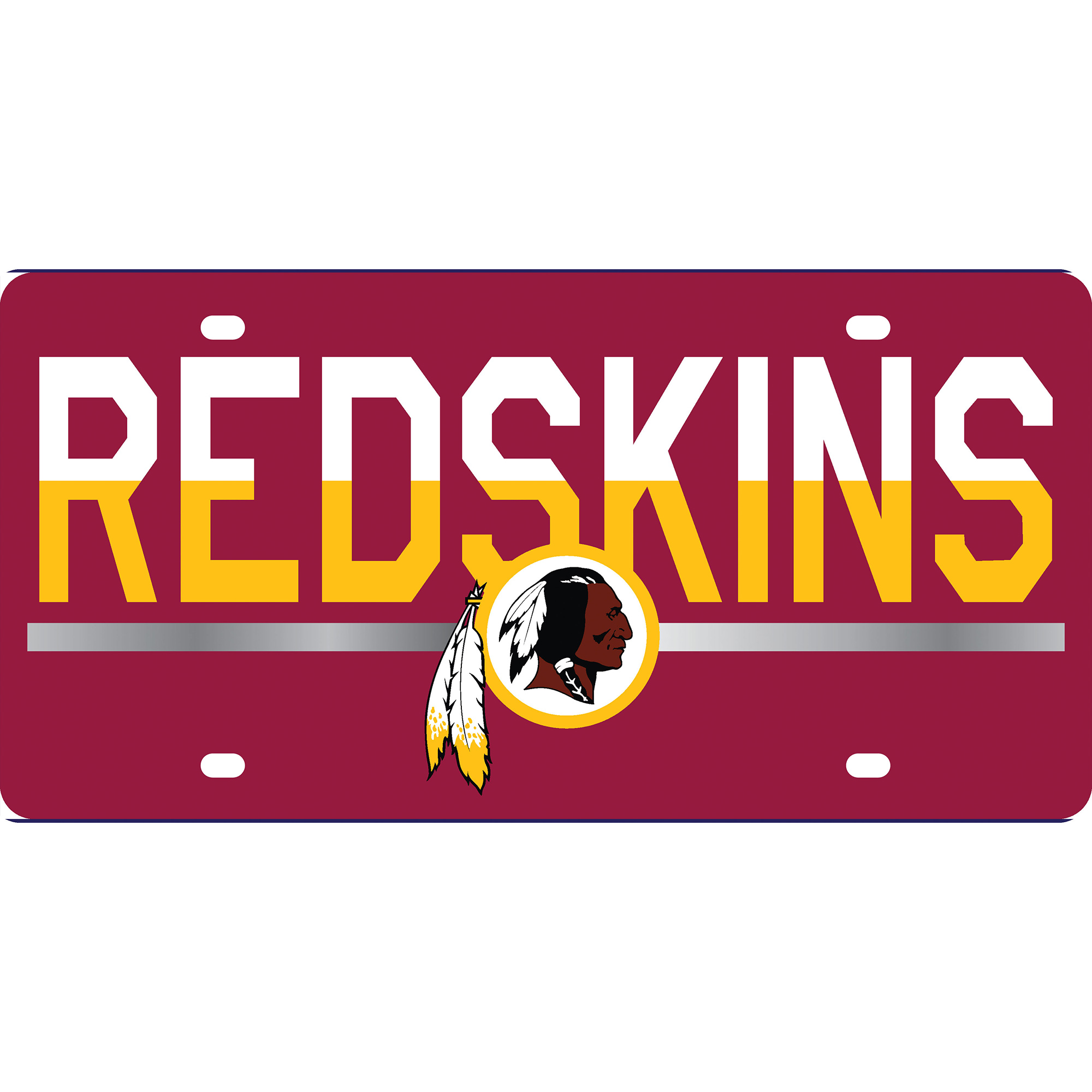 Washington Redskins DuoTone Color Acrylic License Plate - No Size