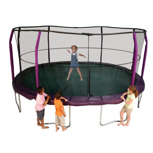 Bazoongi JumpPod Oval Trampoline and Enclosure