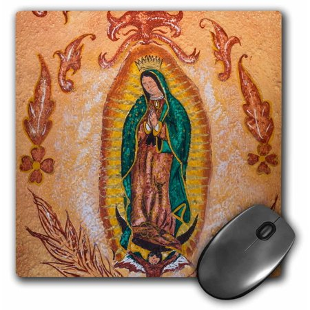 3dRose Mexico, San Miguel de Allende. Painting of Our Lady of Guadalupe. , Mouse Pad, 8 by 8 inches