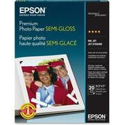 "Epson S041331 Photo Paper - Letter - 8.50"" x 11"" - 68 lb Basis Weight - Semi-gloss - 93 Brightness - 20 / Pack - White"