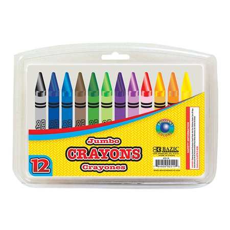 New 401771   12 Color Premium Jumbo Crayons (24-Pack) Coloring Books Cheap Wholesale Discount Bulk Stationery Coloring Books