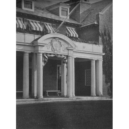 Detail of the clubhouse entrance porch, Essex County Club, Manchester, Massacusetts, 1925 Print Wall (Clubhouse Entrance)