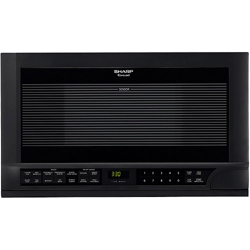 Sharp 1.5 cu. ft. Over the Counter  1100-Watt Microwave Oven, Black