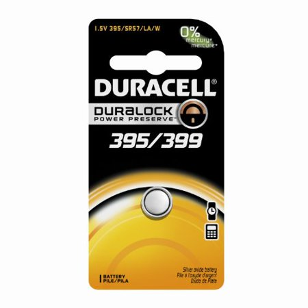 6 Pack Duracell 395/399 1.5V Silver Oxide Button Battery - Duracell Electronic