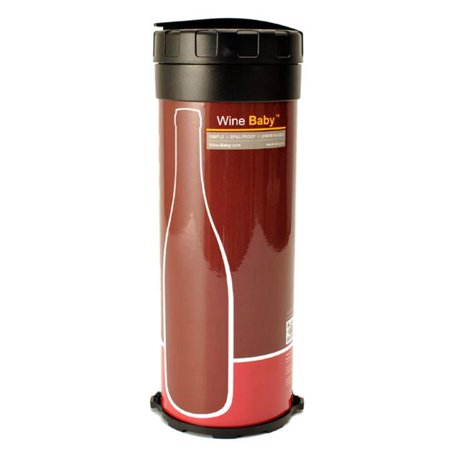 Wine Baby WBLR10a Large Wine Case for Travel - Spill-proof and Unbreakable Sensual - Red ()