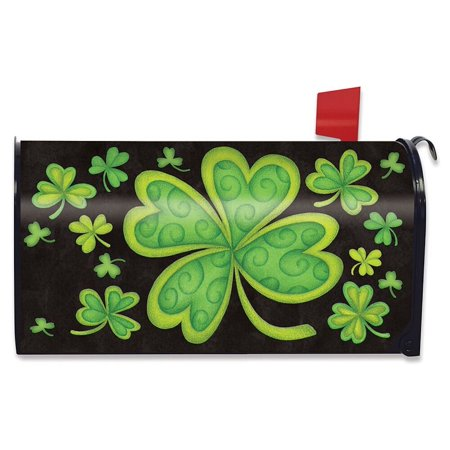 Mailboxes St Louis - Happy St. Patrick's Day Magnetic Mailbox Cover Shamrocks Standard Briarwood Lane