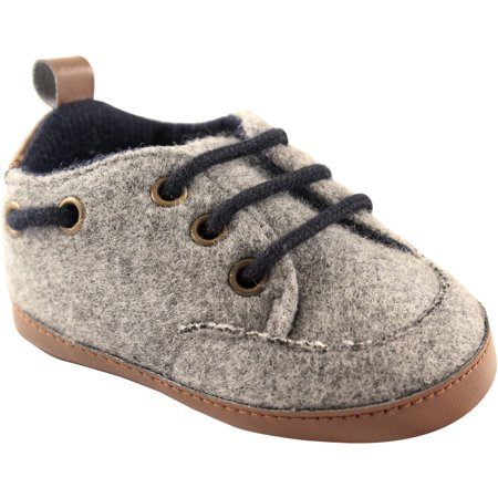Luvable Friends Newborn Baby Boys Wooly Sneaker - Chuck Taylors Baby