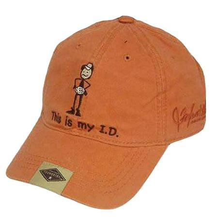 JEFF FOXWORTHY VINTAGE ORANGE REDNECK HAT CAP MY ID - Redneck Hats