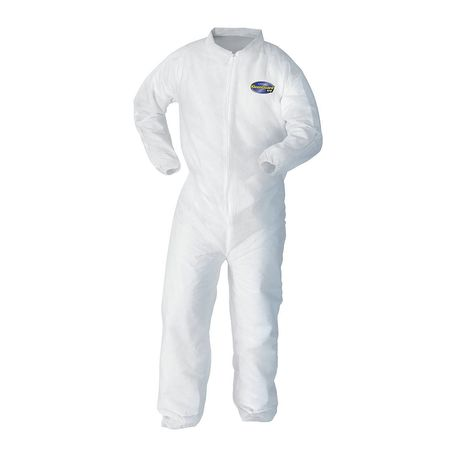 Kleenguard Collared Coverall,Open,White,4XL,PK25 10621