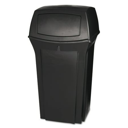 Rubbermaid Commercial Ranger Fire-Safe Container, Square, Structural Foam, 35 gal, Brown